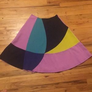 Boden circle skirt Colorful UK 12 US 8 Retro